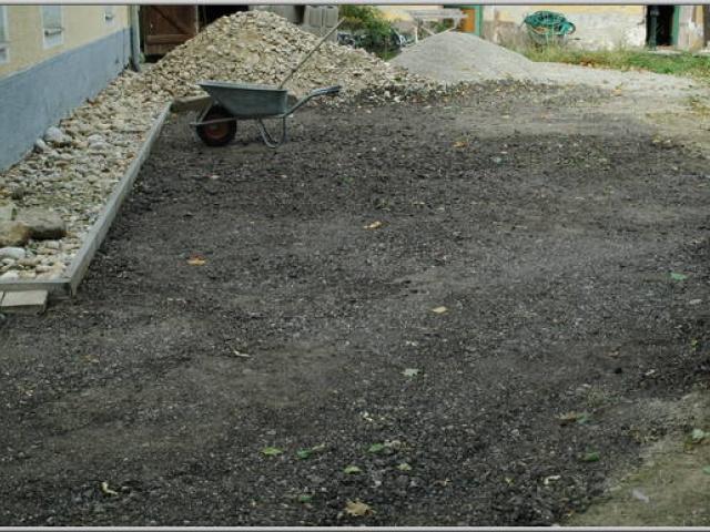 Planierarbeiten und Flächenbegradigungen